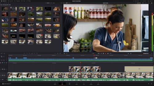 Home page of DaVinci Resolve