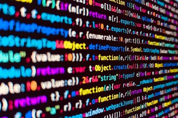 Image of code on a computer screen