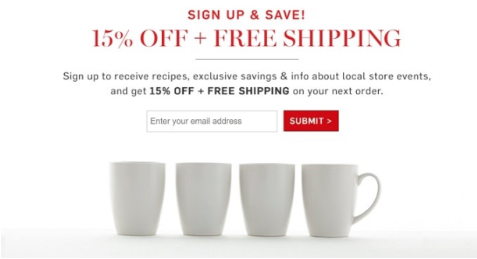 Image of an email incentive campaign
