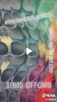 Screenshot of Crocs video on TikTok