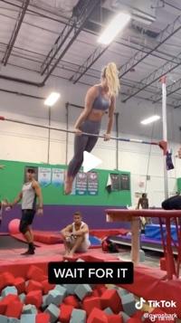 Screenshot of Gymshark video on TikTok