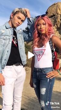 Screenshot of Guess video on TikTok