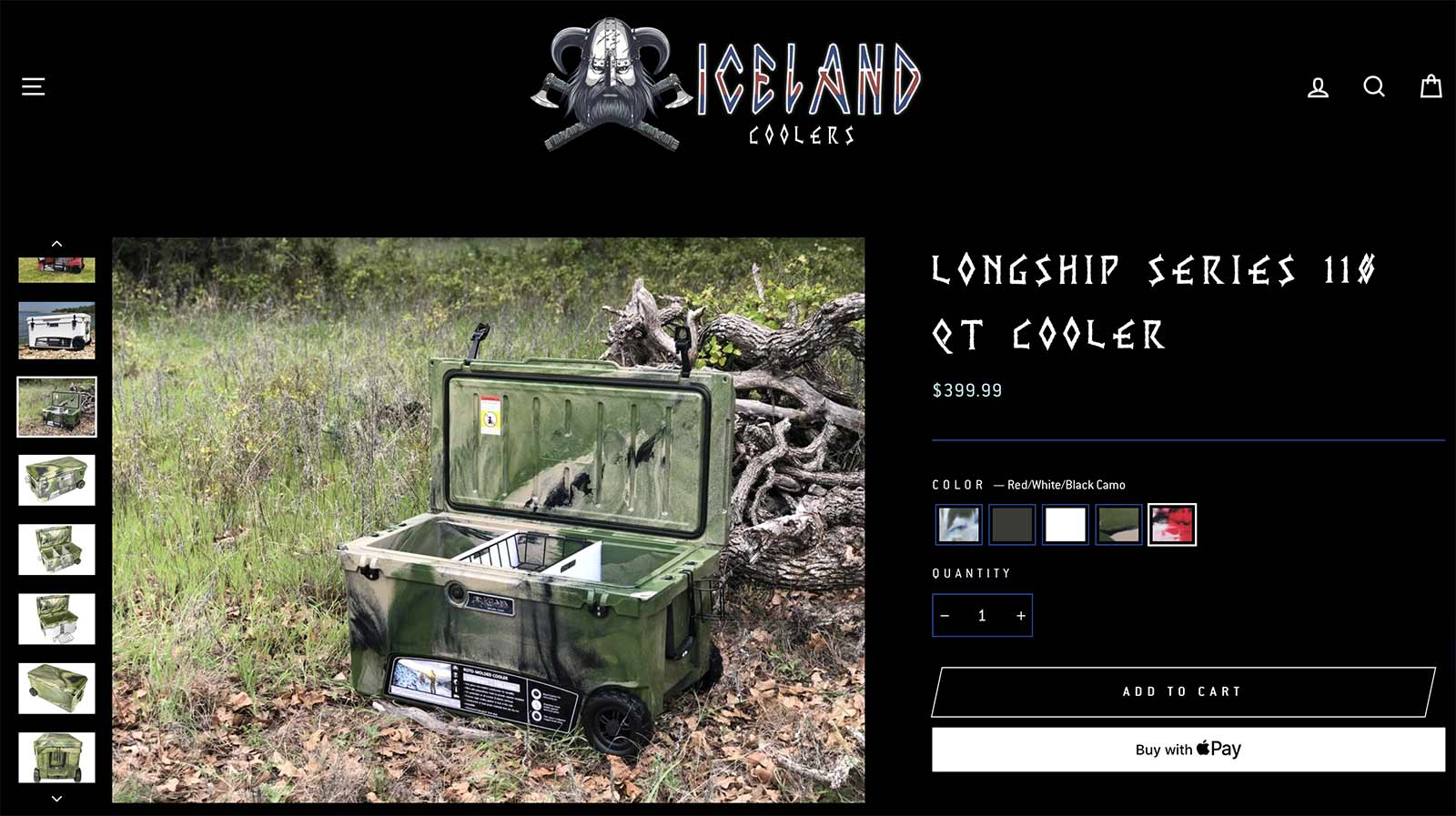 Iceland Coolers product page