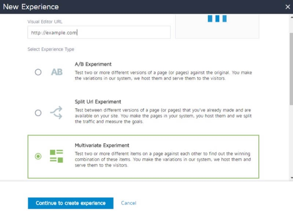 Multivariate testing in Convert Experiences