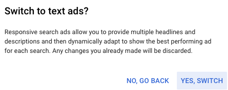 Advertisers can still create expanded text ads in Google Ads Editor.
