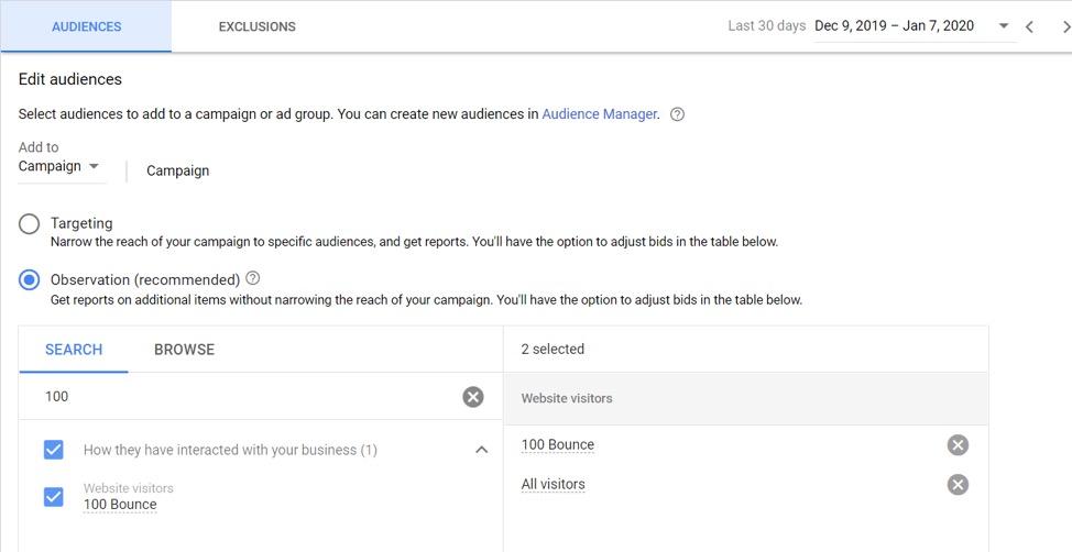 Google Ads Audience Observation