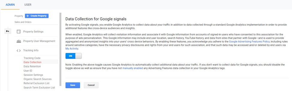 Data collection in Google Signals ePrivacy GDPR