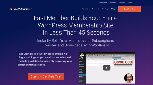 Home page of Fast Member