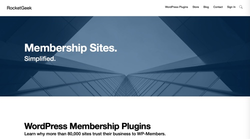 Home page of WP-Members by RocketGeek