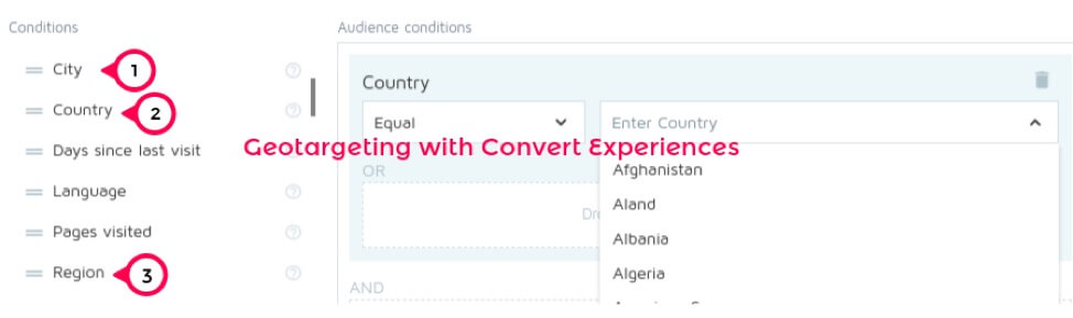 Geotargeting with Convert Experiences