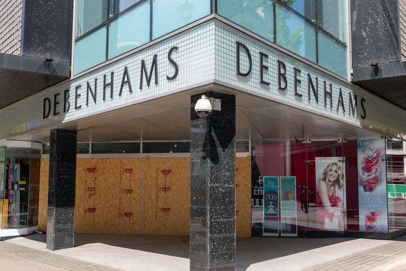 shuttered debenhams store oxford street