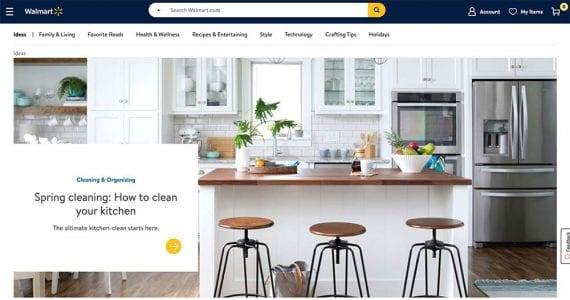 Screenshot of Walmart.com's Idea section.
