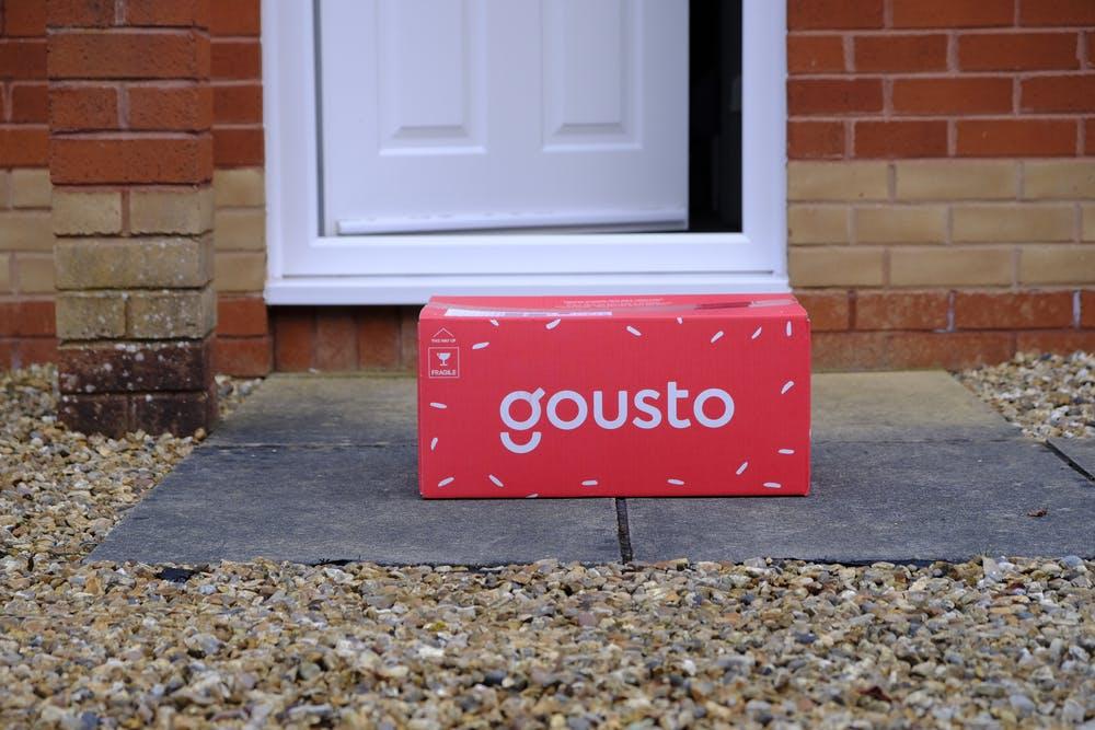 gousto box on doorstep